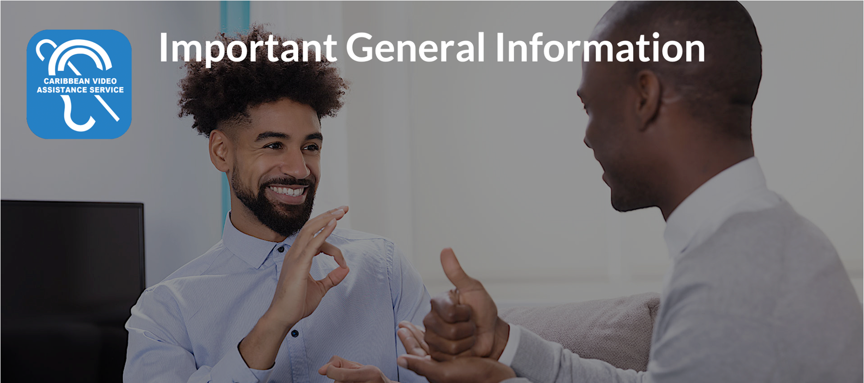 Banner image with page title:Important General Information