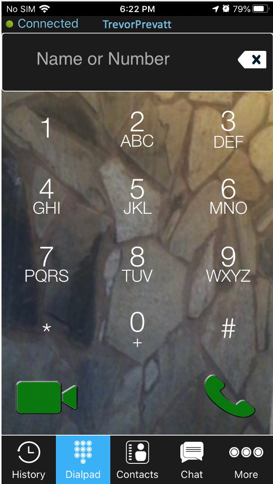 Image of the PUC dialpad